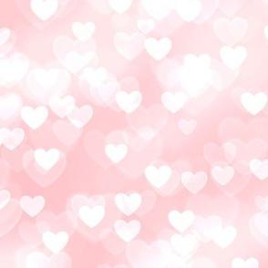 Girly Pink Theme Heart Bokeh #3