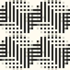 Pixel Chevron Motif