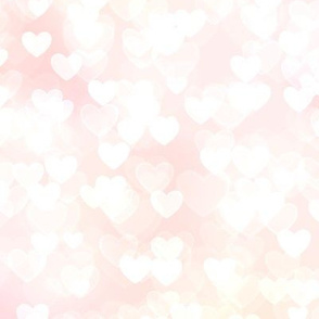 Girly Pink Theme Heart Bokeh #4