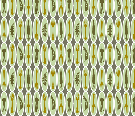 VR_salad_stripe_green_gold fabric by brandbird on Spoonflower - custom fabric
