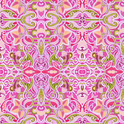 Blooms of Eden fabric by edsel2084 on Spoonflower - custom fabric
