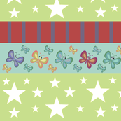 Magic-butterflie rainbow LG - kiwi