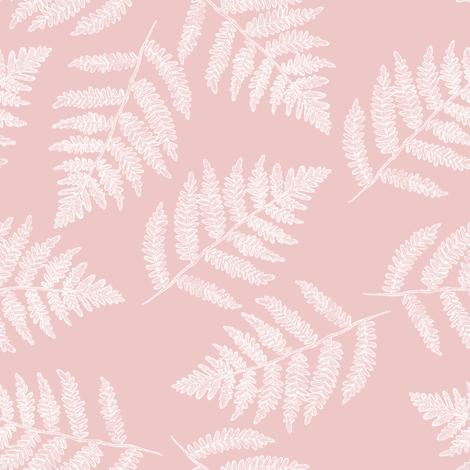 white ferns on hyacinth pink fabric by weavingmajor on Spoonflower - custom fabric