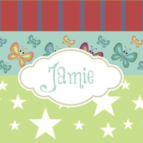 Magic-butterflie rainbow LG - kiwi personalized