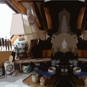 Kitchen Mirror in Gouache