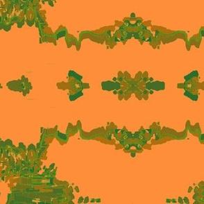 Psychadelic Ribbons Orange and Green