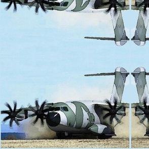 Plane Landing Watercolour