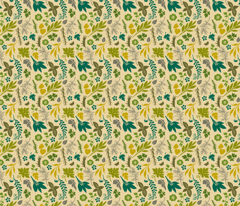 VR_spice_it_up_green_gold fabric by brandbird on Spoonflower - custom fabric