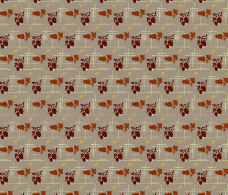 VR_berry_lovely_green_rust fabric by brandbird on Spoonflower - custom fabric