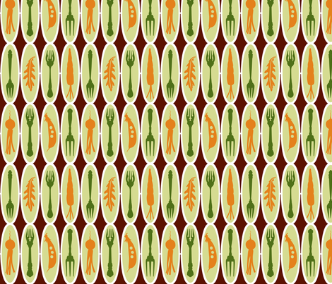 VR_salad_stripe_green_rust fabric by brandbird on Spoonflower - custom fabric