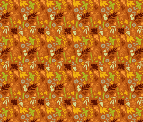 VR_spice_it_up_green_rust fabric by brandbird on Spoonflower - custom fabric