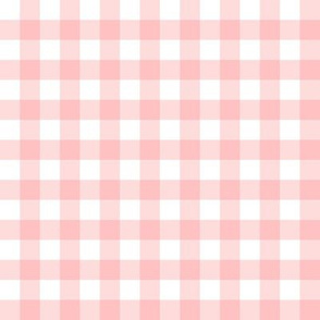 Gingham Check in peony pink