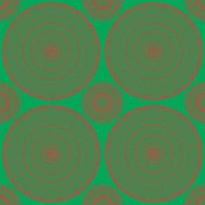 Christmas Mandala Red & Green