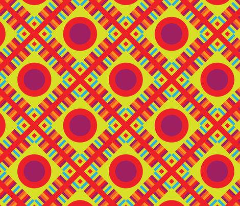 Pop Plaid fabric by carlyn_clark on Spoonflower - custom fabric