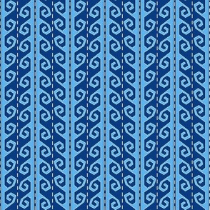 guatamalan yurt strap denim blue