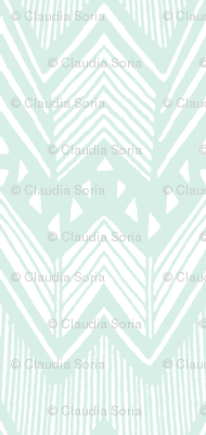Hand Drawn Chevron - Mint