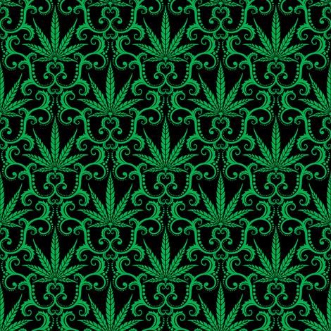 Hemp Damask 1- small fabric by shala on Spoonflower - custom fabric