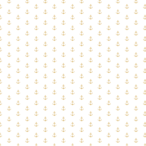 Anchor Gold Small Fabric By Kimsa On Spoonflower