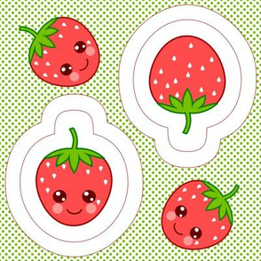 Strawberry swatch toy