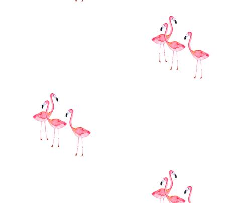 flamingoprint2 fabric by craftberrybush on Spoonflower - custom fabric