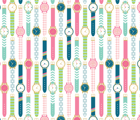 watches fabric by laura_mayes on Spoonflower - custom fabric