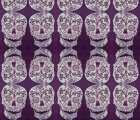 Sugar Skull fabric by hooeybatiks on Spoonflower - custom fabric