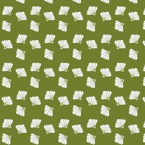 Falling Fans in Bamboo Green