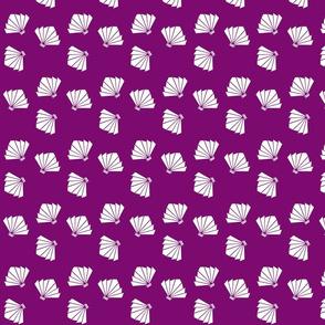 Falling Fans in Imperial Purple