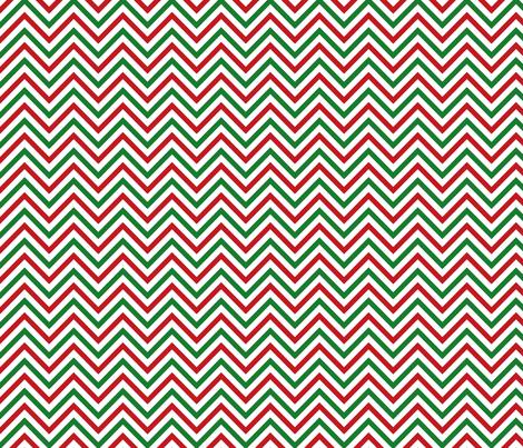 Thin Chevrons - Red and Green on White fabric by joyfulrose on Spoonflower - custom fabric