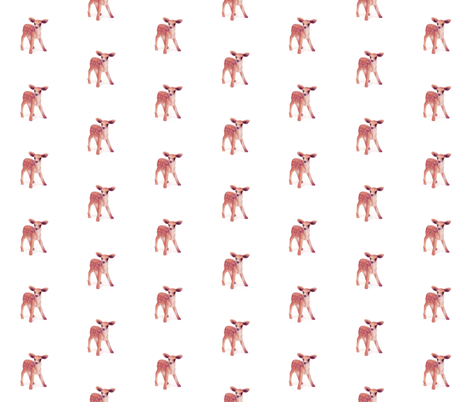 Little Pink Fawn on White fabric by thistleandfox on Spoonflower - custom fabric