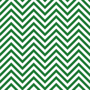 Thin Chevrons - Green on White