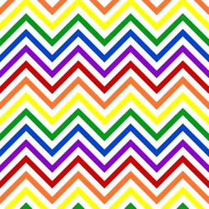 Thin Chevrons - Bold Rainbow