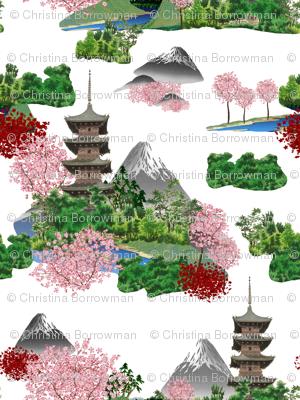 Cherry Blossom Pagodas