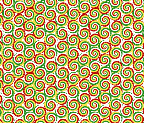 Red, White, Yellow, and Green Parasols fabric by joyfulrose on Spoonflower - custom fabric