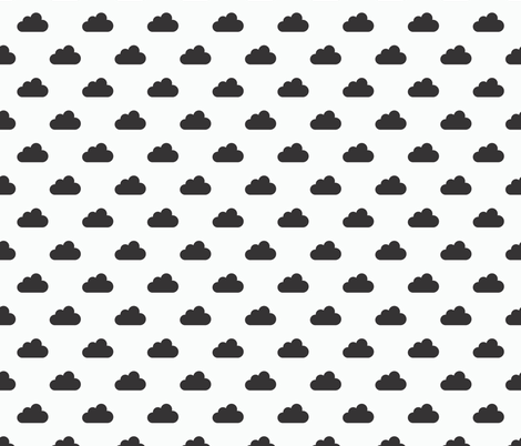 black and white clouds v2 fabric by fruestig on Spoonflower - custom fabric