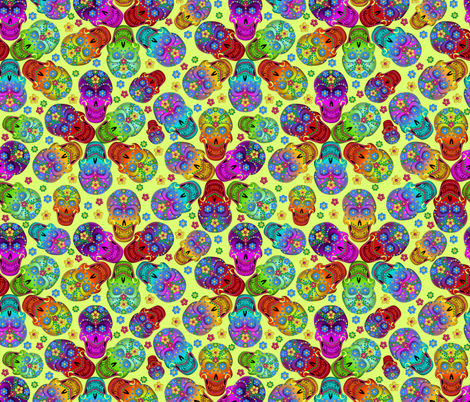 colorful_cavaleras_keylime fabric by glimmericks on Spoonflower - custom fabric