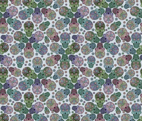 colorful_cavaleras_pastelmist fabric by glimmericks on Spoonflower - custom fabric