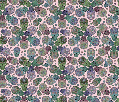 colorful_cavaleras_pastelpink fabric by glimmericks on Spoonflower - custom fabric