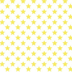 Large Yellow Stars on White Background