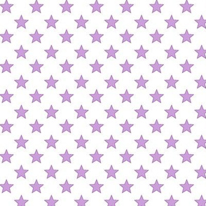 Large Light Purple stars on White Background