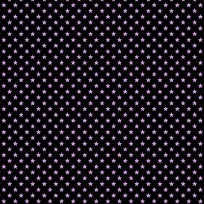 Small Purple Stars on Black