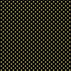 Small Yellow Stars on Black