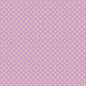 Small Yellow Stars on Light Purple