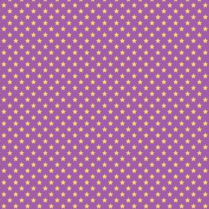 Small Yellow Stars on Mid Purple