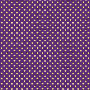 Small Yellow Stars on Dark Purple