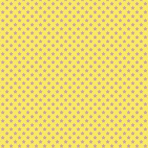 Small Purple Stars on Light Yellow
