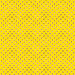 Small Purple Stars on Dark Yellow
