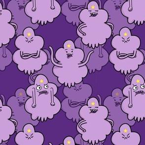 Purple Princess hanging out on Dark Purple