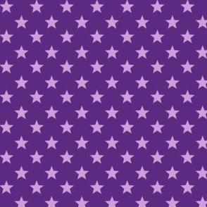 Large Light Purple stars on Dark Purple Background