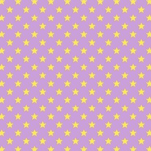 Large Yellow Stars on Light Purple